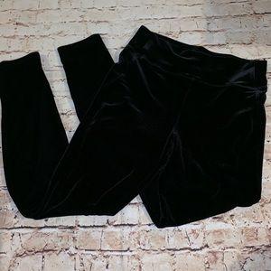 GAP velvet high waisted leggings